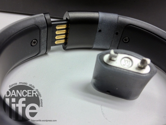 NIKE+ FuelBand 的手環接口看到有一些科技的端子,主要是連結電腦usb時傳輸資料用.
