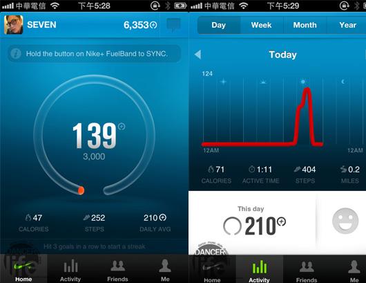 隨時在手機裡面檢查自己的運動狀況與設定目標達成率!
